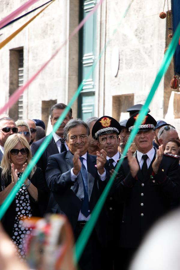 Herdenking van Algemeen Carlo Alberto Dalla Chiesa, Palermo royalty-vrije stock fotografie