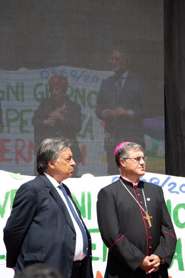 Herdenking van Algemeen Carlo Alberto Dalla Chiesa, Palermo stock fotografie