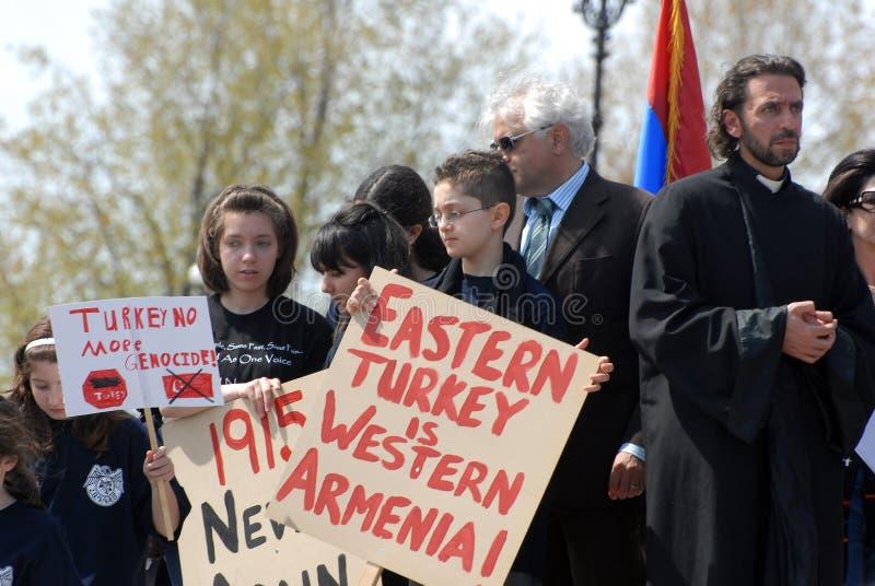 Herdenking van Armeense Volkerenmoord stock afbeelding