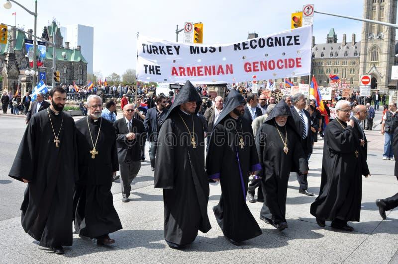 Herdenking van Armeense Volkerenmoord royalty-vrije stock fotografie