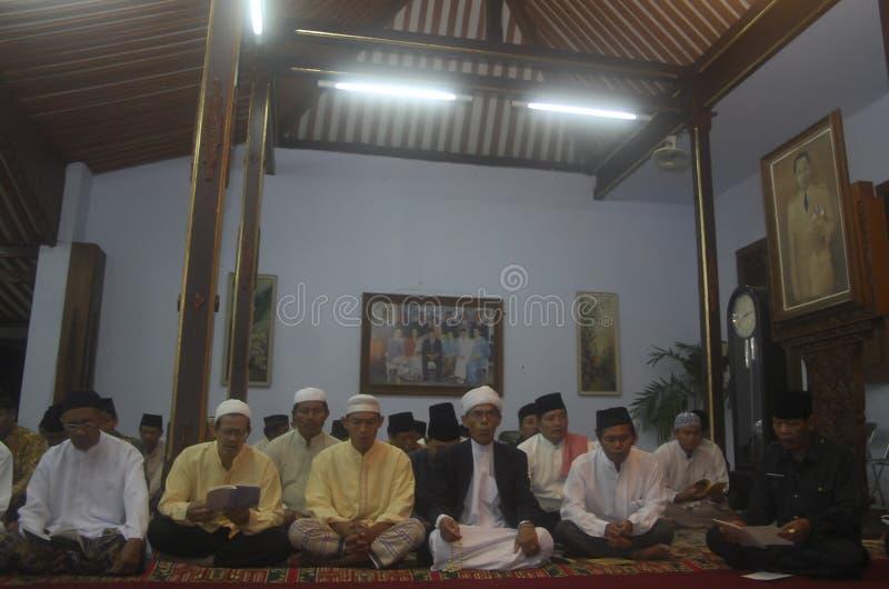 HERDENKING VAN DE DE ISLAMdood VAN INDONESIË JAVANESE royalty-vrije stock foto