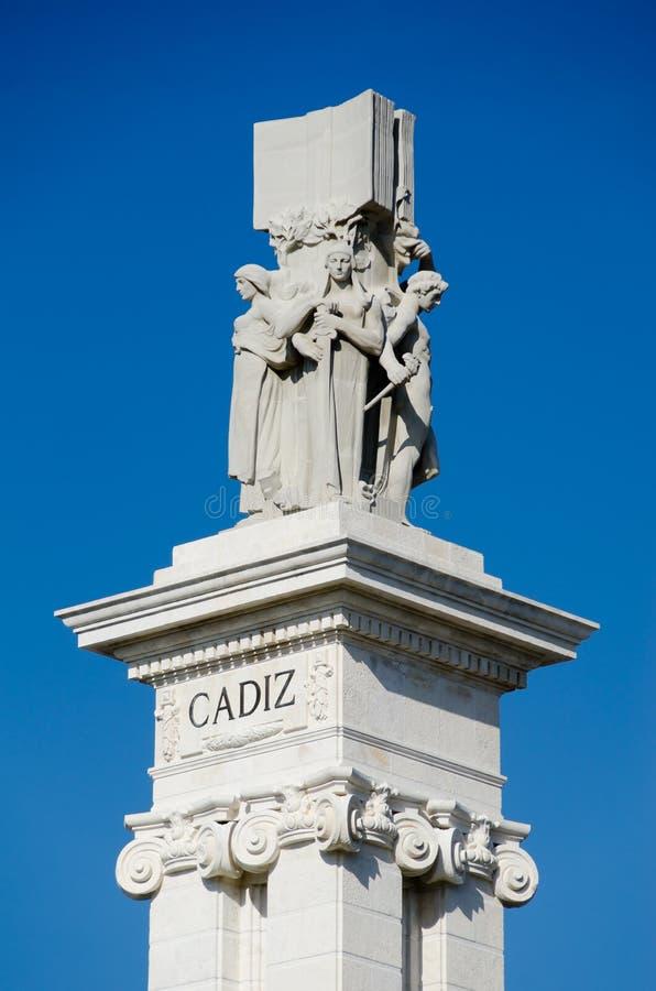 Herdenking van de eerste Spaanse grondwet stock foto