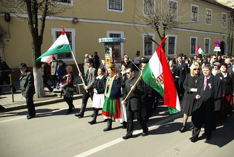 Herdenking van de Hongaarse Revolutie stock foto's