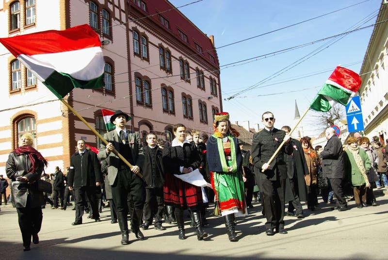 Herdenking van de Hongaarse Revolutie royalty-vrije stock afbeelding