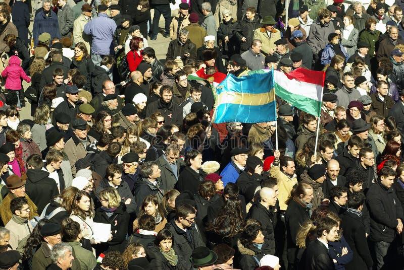 Herdenking van de Hongaarse Revolutie royalty-vrije stock foto's