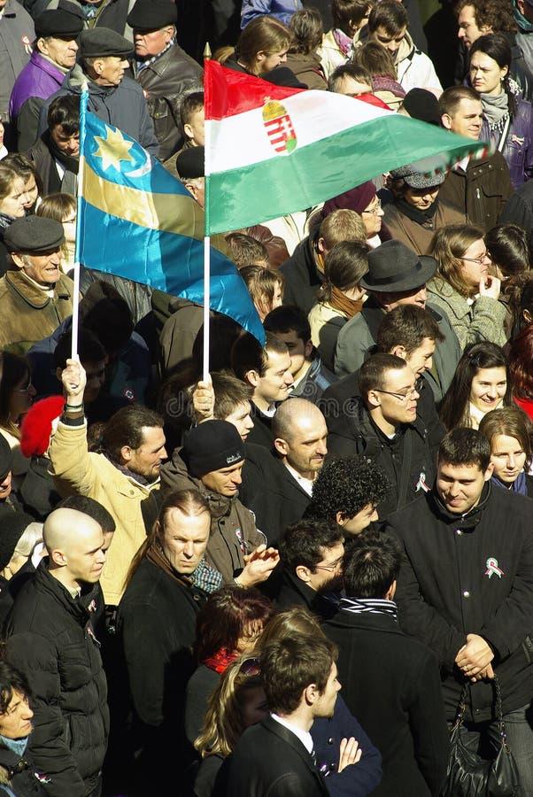 Herdenking van de Hongaarse Revolutie royalty-vrije stock afbeeldingen