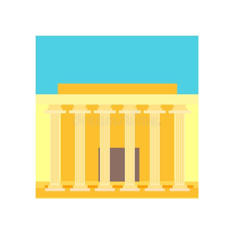 Herdenkings het pictogram vectordieteken en symbool van Lincoln op witte B wordt geïsoleerd stock illustratie