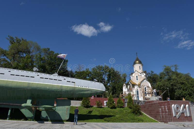 Herdenkings Onderzees Museum s-56 in Vladivostok, Primorsky Krai binnen royalty-vrije stock foto