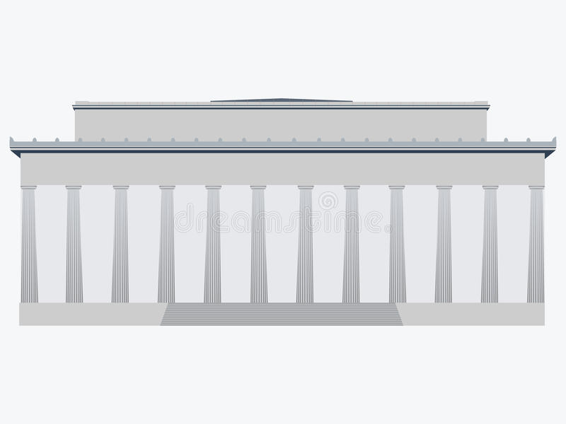 herdenkings washington De V.S. Vlakke vectorillustratie stock illustratie