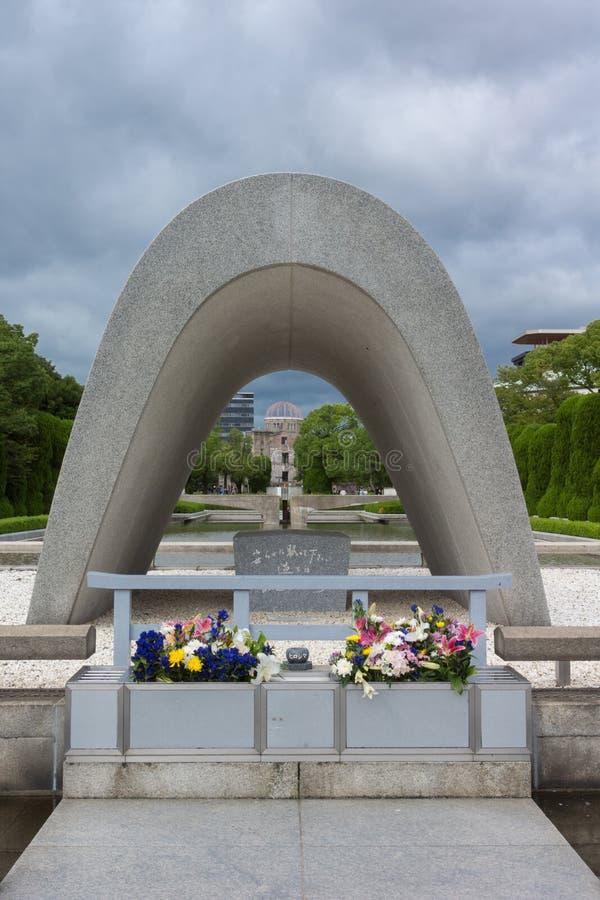 Herdenkingscenotaaf bij de Vrede Memorial Park van Hiroshima royalty-vrije stock afbeelding