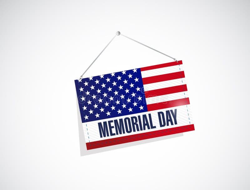 herdenkingsdag ons hangende vlag vector illustratie