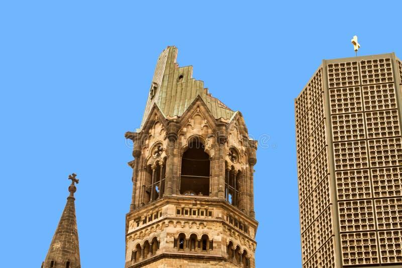 Herdenkingskaiser Wilhelm Church royalty-vrije stock afbeeldingen