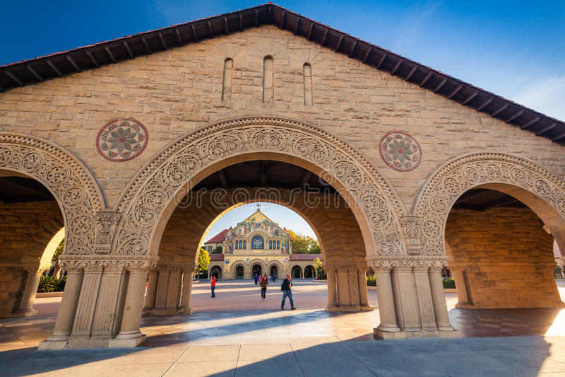 Herdenkingskerk in Stanford University stock afbeeldingen
