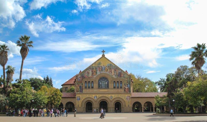 Herdenkingskerk in Stanford University stock afbeelding