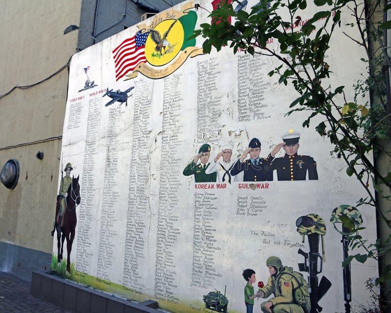 Herdenkingsmuur in Weinig Italië royalty-vrije stock fotografie