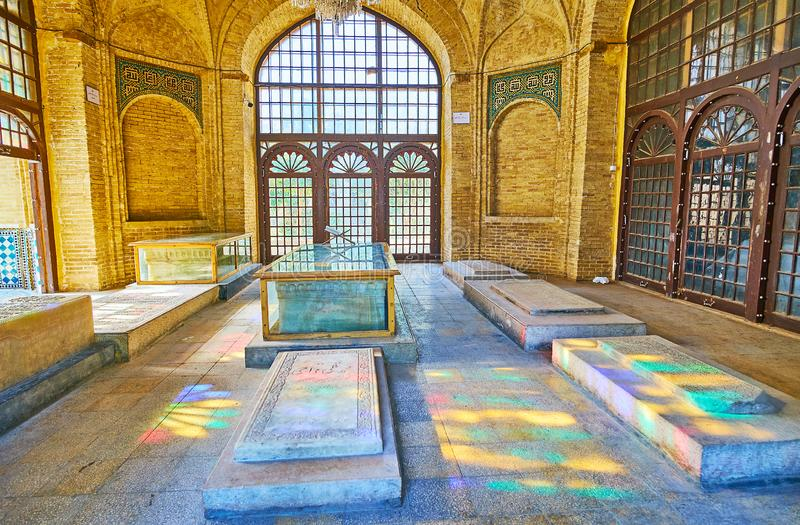Herdenkingszaal, Shiraz, Iran stock foto's