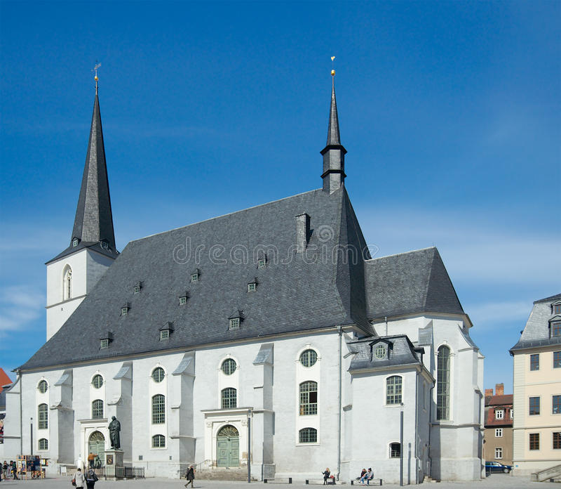 Herder Church, Weimar, Germany. Weimar, Germany - April 7 2015: Church St. Peter und Paul (Herder Church, Herderkirche, 1525 royalty free stock photo