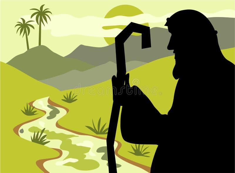 Herder Silouette vector illustratie