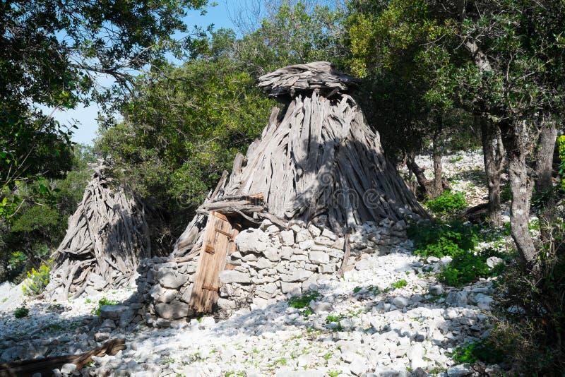 Herdershut in Sardinige royalty-vrije stock foto