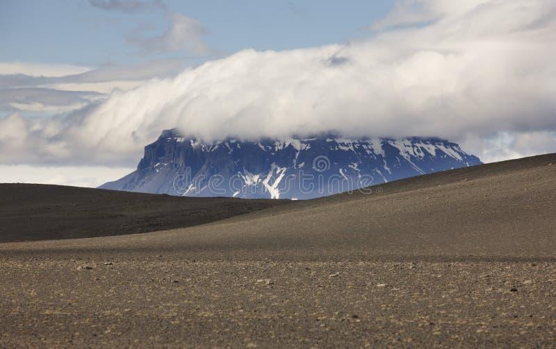 Herdubreid berg i Island arkivbild