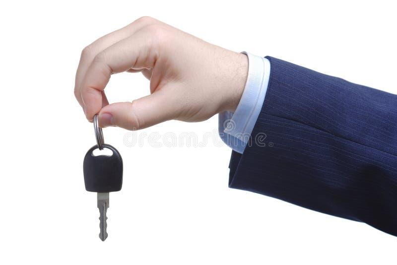 Hereâs votre clé de véhicule photo stock