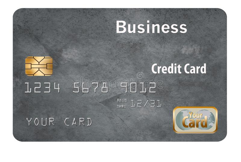 Here is a business credit card. It is generic and isolated on background stock images