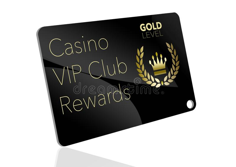 Here is a casino VIP club rewards card. For loyal gamblers. Here is a gold level member`s card with a crown and laurel left logo vector illustration