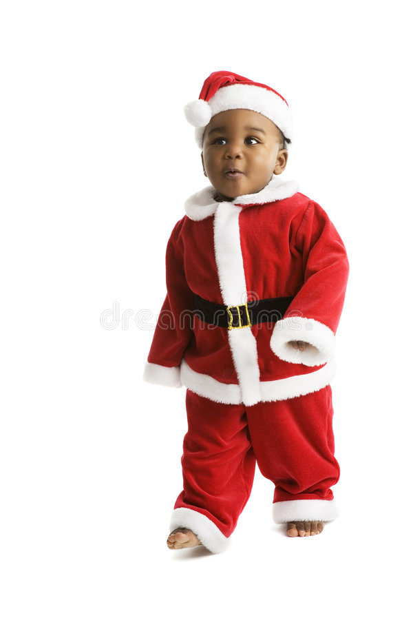 Download Here Comes Santa Clause stock photo. Image of barefoot - 8917582