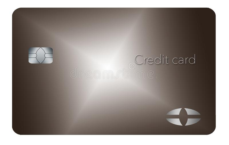 Here is a generic credit or debit card with a contemporary minimalist design. royalty free illustration