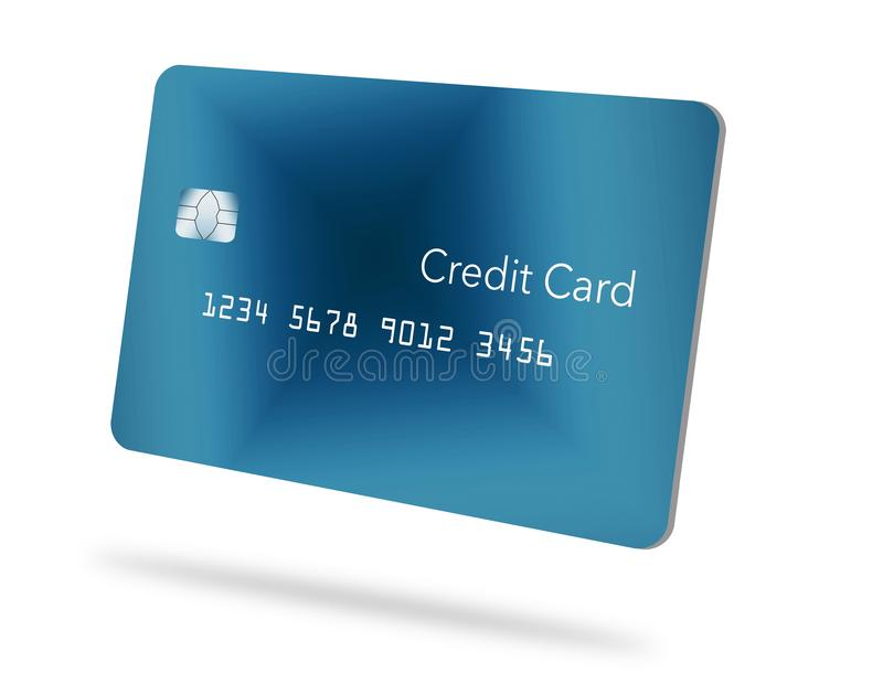 Here is a generic credit or debit card with a contemporary minimalist design. stock illustration