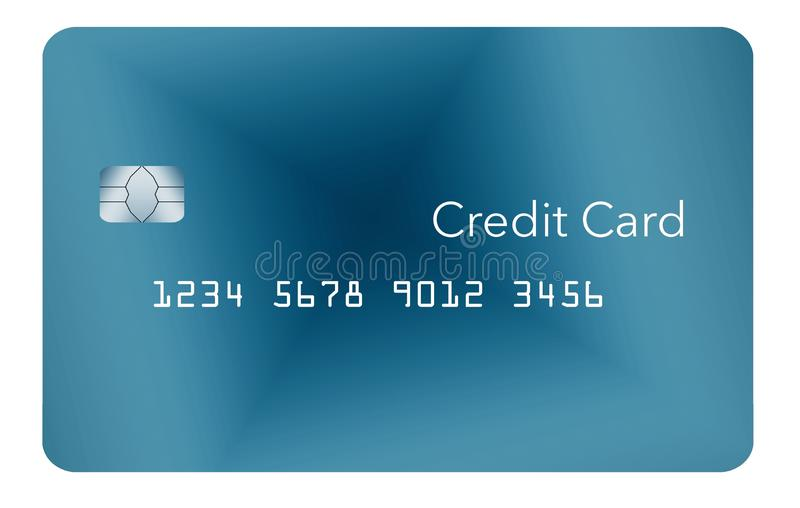 Here is a generic credit or debit card with a contemporary minimalist design. vector illustration