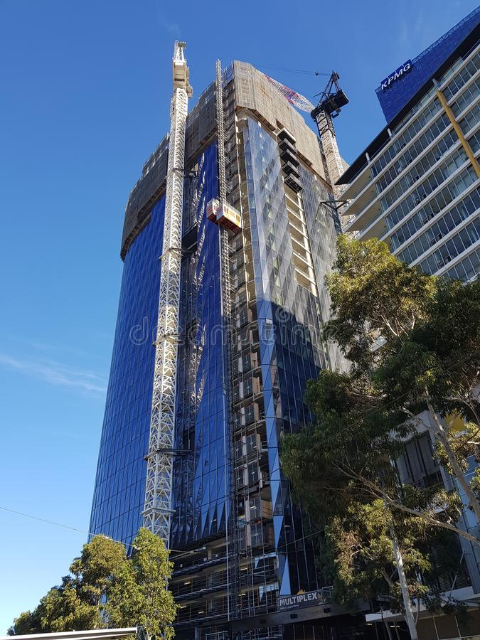 Stunning Melbourne High Rise Under Construction stock photography