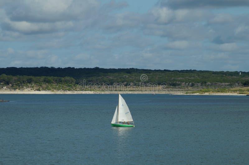 Boating at Lake Georgetown Texas royalty free stock photo