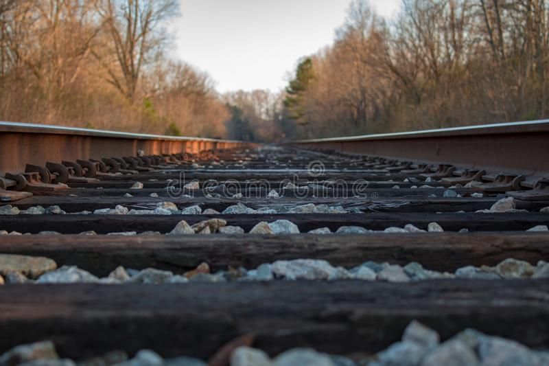 Point of View Railroad Tracks stock photo