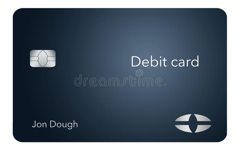 Here is a modern and stylish bank debit card. It is an illustration and is mock and generic to avoid any problems with trademarks vector illustration