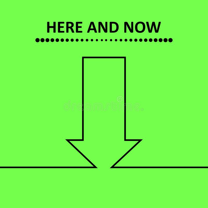 Here and now. vector illustration