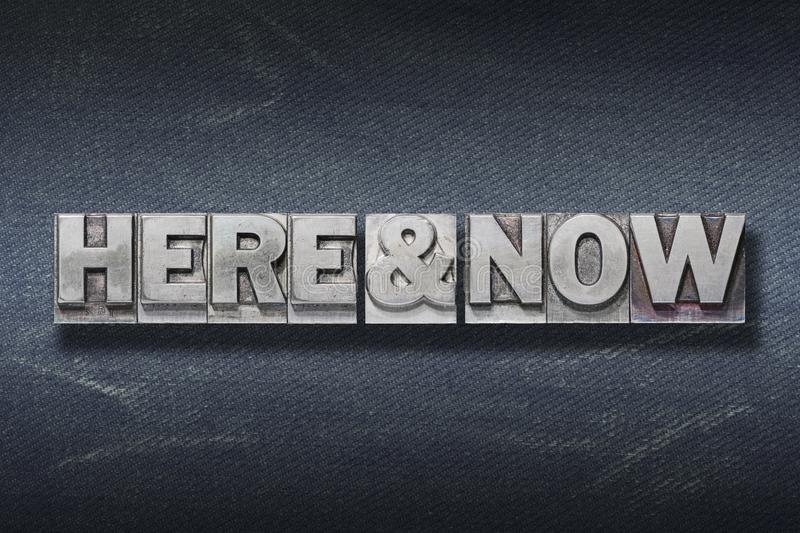 Here and now den royalty free stock image