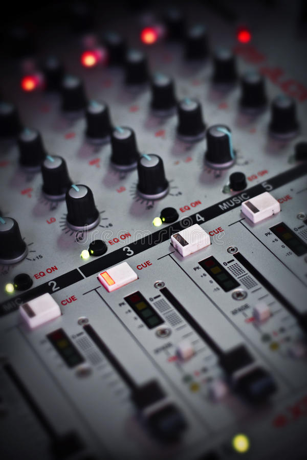 Here is one of the tools that a Dj uses to mix songs royalty free stock photography