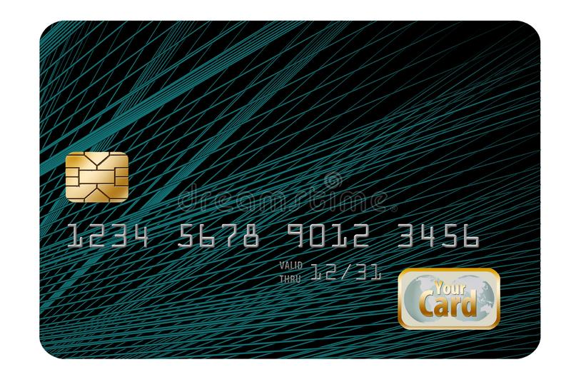 Here is an original background design, originally designed as a credit card background. Add your own information. Template for generic credit card royalty free stock image
