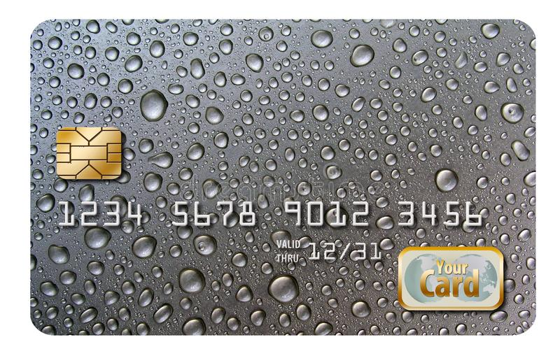 Here is an original background design, originally designed as a credit card background. Add your own information. Template for generic credit card royalty free stock photography