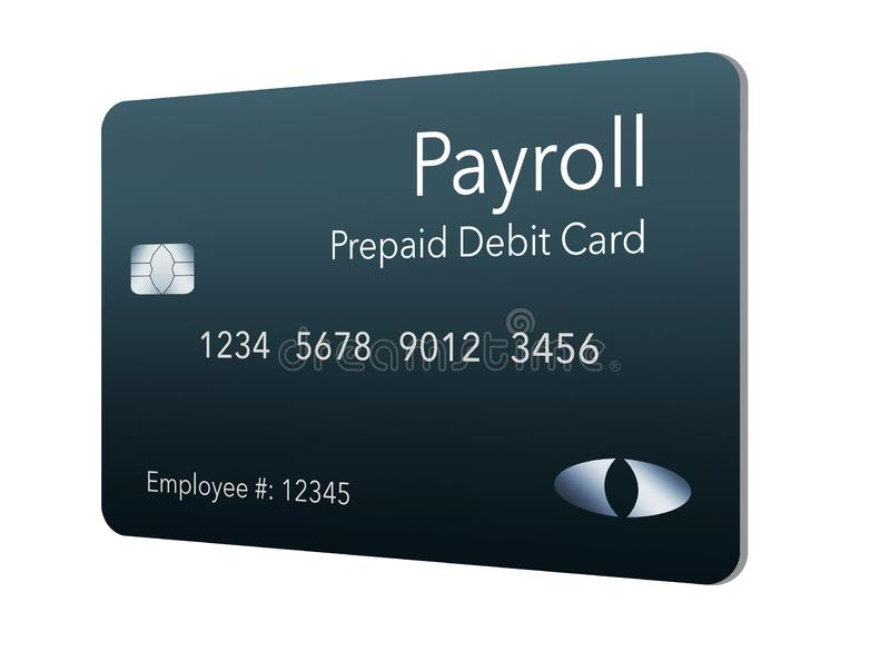Here is a payroll debit card. It is a pre-paid debit card used to pay employees their payroll wages. It is and illustration vector illustration