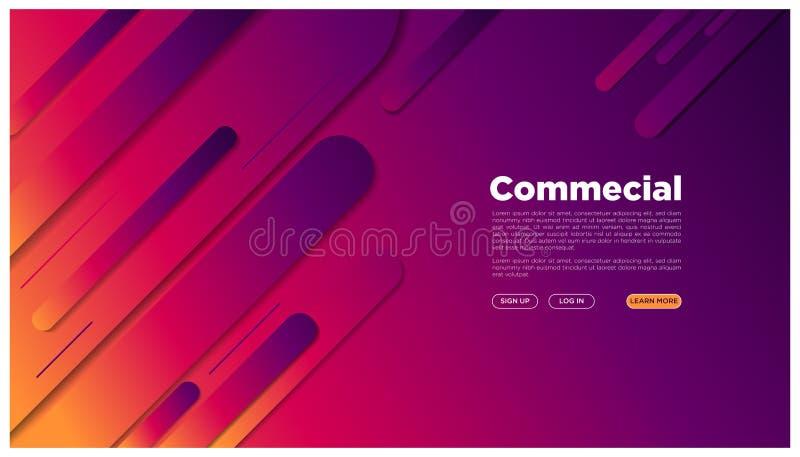 Here_rounded geometrischer Landungsbunter futuristischer grafischer Raum der seite der Zusammenfassung Ihr Text abstraktes vektor abbildung