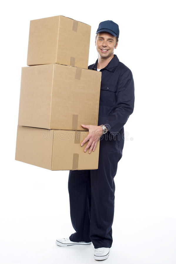 Download Here Are Your Cartons Ma'am Stock Photo - Image: 26567196