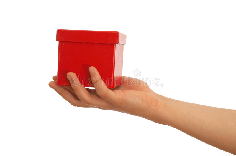 Here is your gift stock image