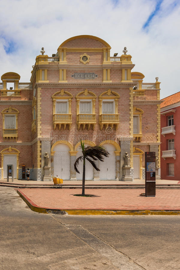 Heredia-Theater in der alten Stadt, Cartagena, Kolumbien stockfotos