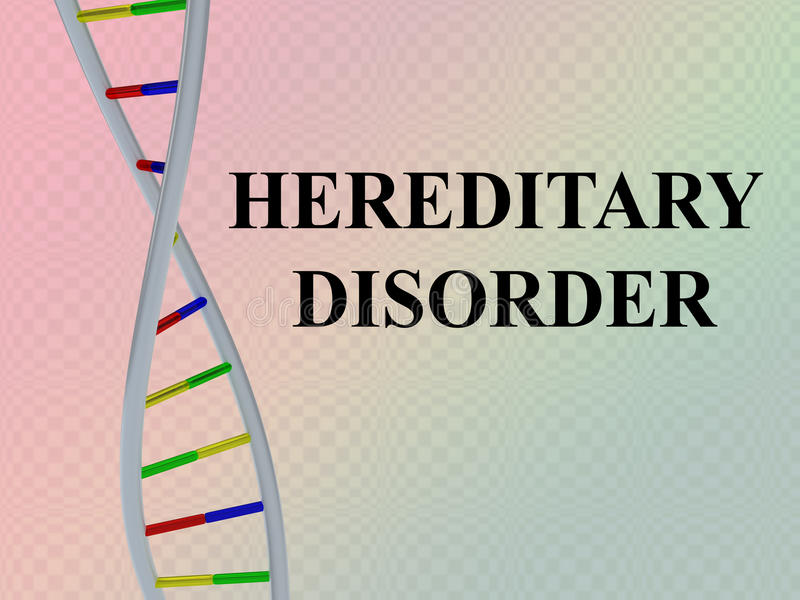 Hereditary Disorder concept vector illustration
