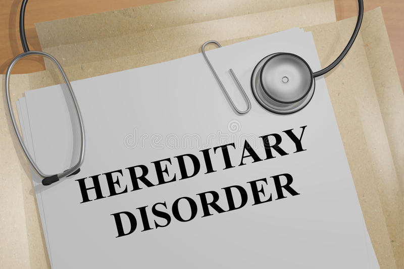 Hereditary Disorder - medical concept royalty free illustration