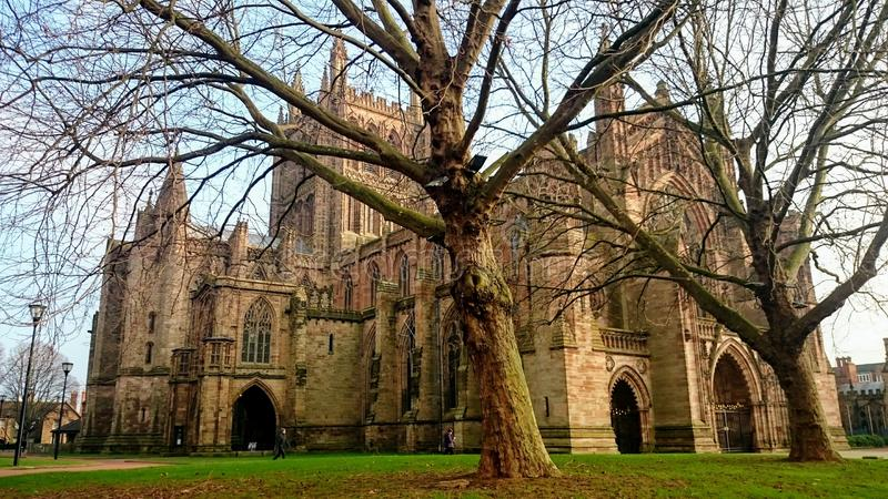 Hereford Cathedral. Old church in the United Kingdom - Wales. Religion royalty free stock photography