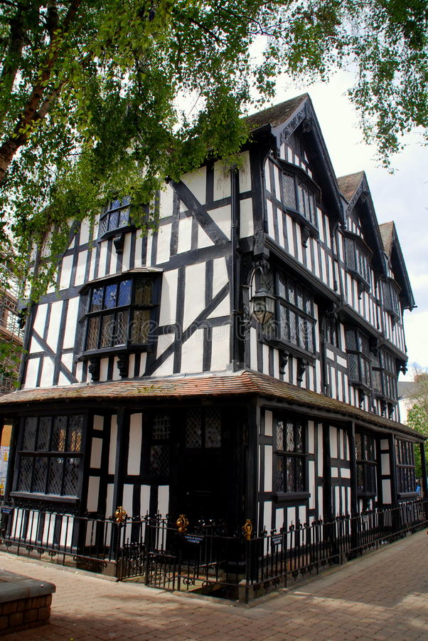 Hereford, England: 1621 Old House Stock Photo