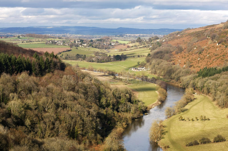 Hereford England. A landscape view from Symonds Yat Hereford England royalty free stock image
